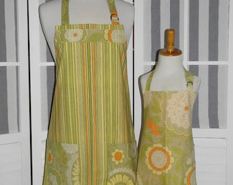Gypsy Lacework Mommy and Me matching Apron Set for Adult & Child