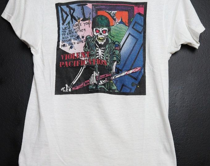 D.R.I Dirty Rotten Imbeciles Violent Pacification 1983 Vintage Shirt