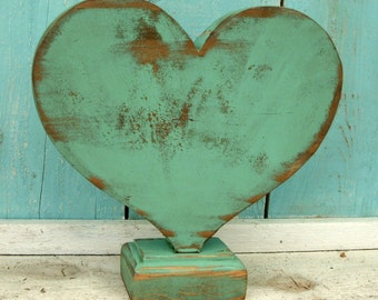 Distressed Wooden Heart Handmade Reclaimed Wood Rustic Hearts Gifts for Women Home Decor Farmhouse Honeystreasures California Woodworking