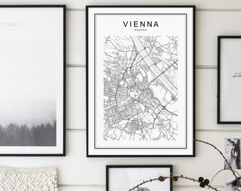 Vienna map Etsy