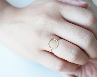 eternity- 14kt gold filled thin circle ring