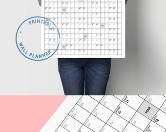 Minimalist Calendar 2018 Planner Daily Organizer Printable Calendar Monthly Calendar Weekly Planner Office Calendar Weekly Schedule