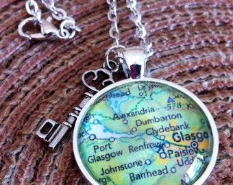 Customized Scotland map pendant
