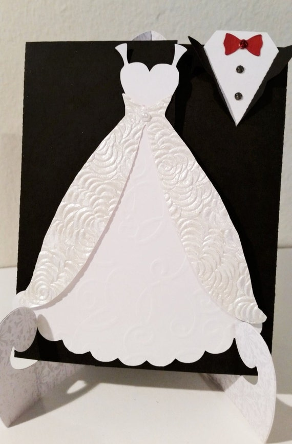 Wedding Invitation Tuxedo and Gown Invitation Bridal Shower