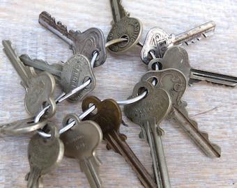 Vintage American Made Keys Supply Flat Keys