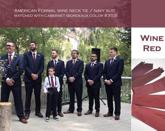 shades of wine red,Fall wedding,solid satin burgundy wine,dark light red groom,groomsmen,men,shade of red,deep light red wedding neck ties