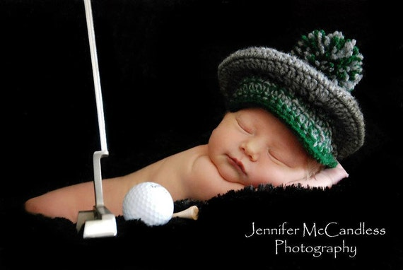 Tee time golf hat newborn baby made to order