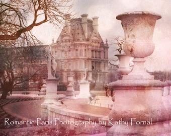 Paris Photography, Tuileries Sculpture Garden Park, Paris Pink Louvre Gardens, Paris Dreamy Pink Photos, Paris Tuileries Louvre Architecture