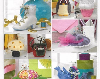 A Sewing Pattern to Create 8 Different Novelty Shaped Pincushions - Uncut ~ Simplicity 2990