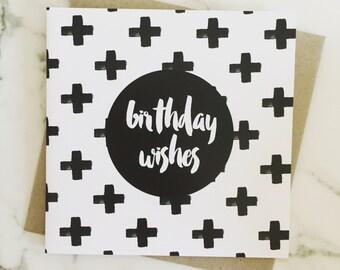 Birthday Card {GEO CROSSES}