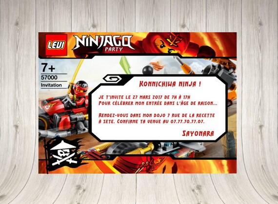 Invitation lego ninjago custom with ninjago font stopboris Gallery