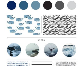 The Whale Pod Bedding. Baby Bedding. Whale Baby Bedding. Ocean Baby Bedding. Crib Sheet. Crib Skirt. Whale Nursery.