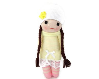 Sock Doll, Soft Doll, Doll, Little Girl Dolls, First Baby Doll, My First Baby Doll, Gift For Babies, Handmade Doll, Gift For Little Girl