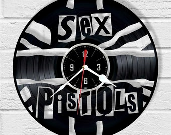 Sex Pistols vinyl record wall clock unique gift and wonderful home decor