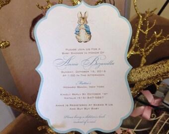 Peter Rabbit Invitation Baby Shower Invitation Peter Rabbit Shower Invitation Peter Rabbit