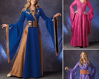Simplicity Pattern 1009-Lord of the Rings, Game of Thrones Ren Faire Costume Dress  Plus size 14-22