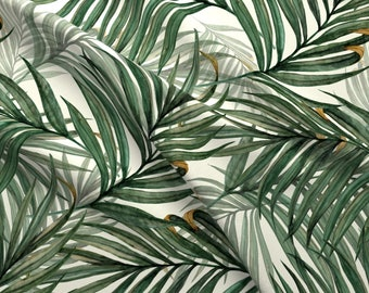 Palm Leaves Fabric - Palm Leaves King Pineapple By Chicca Besso - Palm Leaves Tropical Botanical Cotton Fabric By The Yard With Spoonflower