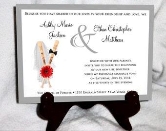 Baseball Wedding Invitations, RSVP's, Reception Insert w/ FREE Calendar Stickers