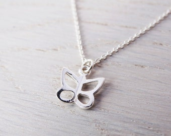 Tiny Silver Butterfly Necklace - Childrens Jewellery - Sterling Silver