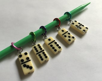 Domino Stitch Markers (Set of 5)