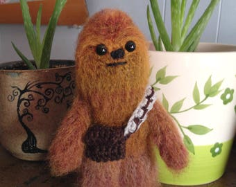 Chewbacca Inspired Amigurumi doll- MADE to ORDER- Star Wars Inspired dolls