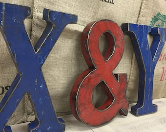 Large Metal Letter X