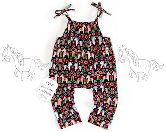 Romper pattern PDF, baby romper pattern PDF, kids romper pattern PDF, sewing patterns