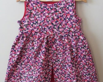 The Princess Dress (Floral Pink Purple Red)