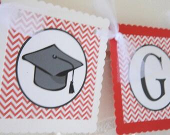 Graduation banner, Collegiate banner, you choose colors, School initials plus grad plus 2014