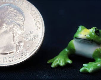 Frog – Small: Fairy garden, miniature garden, fairy garden accessories, ceramic, miniature animal, frog