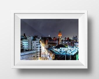 Whitworth Street Manchester / MCR / Night / City / Urban / Mancunian / Fine Art / Giclee / Wallart / Northern City / Oxford Road / Station