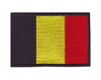 Tiny Belgium Flag Patch! Custom Made! F23