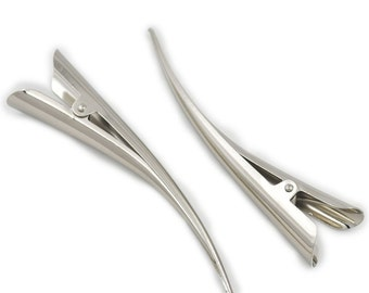 "20 Pcs 60mm 2 3/8"" 110mm 4 1/4"" 130mm 5 1/5"" Alligator Beak Hair Clamp Clip Bows Prong Barrette Accessory"