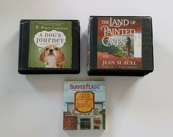 Road trip! Audio books on CD -A Dog's Journey, Fried Green Tomatoes, The Land of Painted Caves