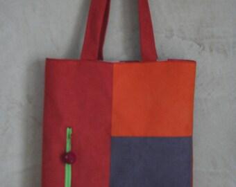 tote bag - nubuck - multicolor fabric