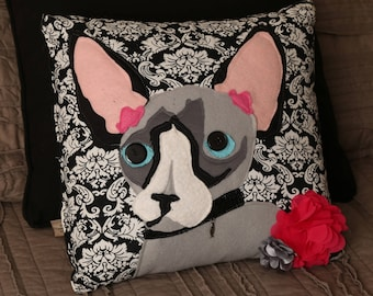 Custom, Handmade Pillow featuring Your Pet's Face