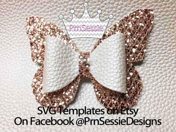 Digital Svg Butterfly Bow Template From Prnsessie On Etsy Studio