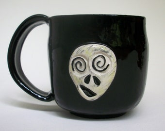 Ceramic Mug - Square Black Ceramic ZOMBIE Mug