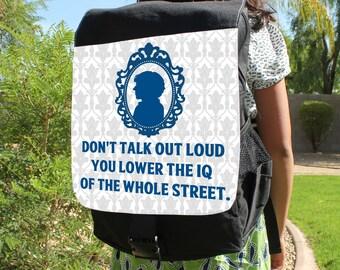 """SHERLOCK  """"You Lower The IQ"""" Canvas Backpack Bag"""