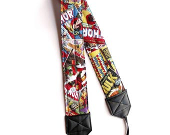 Comic Book Super Hero Camera Neck Strap