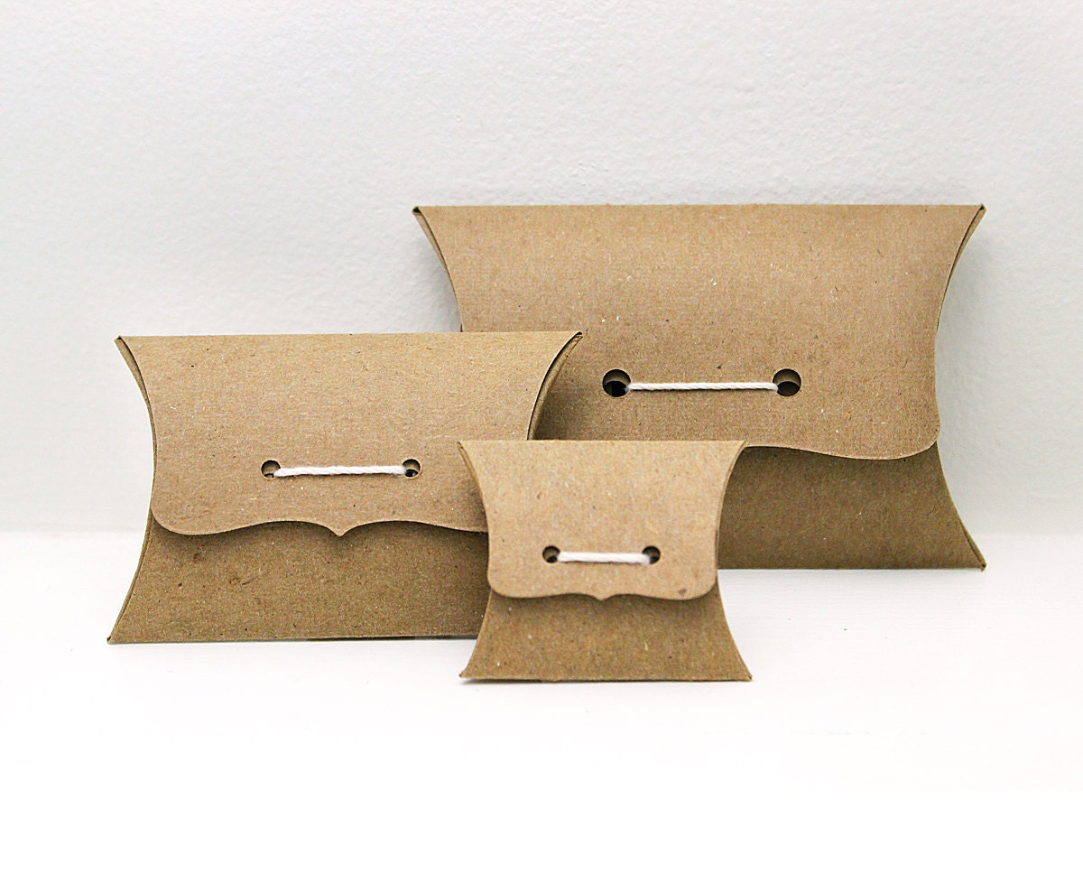 Pillow Box Sampler Set Ribbon Tie Gift Boxes Medium Small