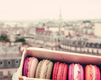 Paris photography, Paris wall art, canvas art, large wall art, Paris canvas, Paris print, canvas wall art, french macaroons, macarons