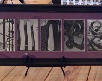 """Purple """"SMILE"""" Framed Letter Art"""