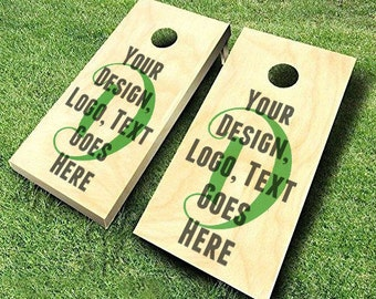 Custom Cornhole Board Decals; Set of Two! Make your cornhole set one of a kind with your own personal text, design, image or logo