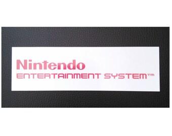 Nintendo NES Logo Sticker