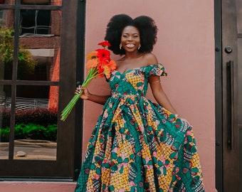 Ankara Dress African Clothing African Dress African Print Dress African Fashion Women's Clothing African Fabric maxi Dress Summer