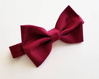 Red Bowtie / Apple red bowtie / crimson bowtie / red wedding / wedding bowtie / mens bowtie / baby bowtie / boys bowtie / ring bearer bow