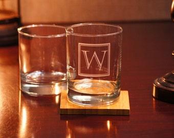 Custom Rocks Glasses, Personalized Whiskey Glasses, Bourbon Glass, Scotch Glasses, Custom sand carved Glasses, 11 oz Rocks Glass, Mens Gift