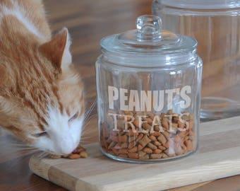 Personalised Cat Treat Jar