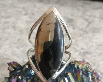 Pyrite In Magnetite Healer's Gold, Size 9